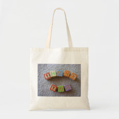 Thank You Blocks-baby Shower Tote Bag at Zazzle