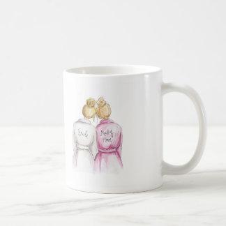 THANK YOU Blonde Bun Bride Bl Maid of H Coffee Mug