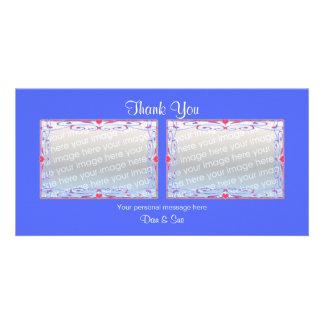 Thank You Blue 2 Photos Card