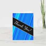 """[ Thumbnail: """"Thank You!"""" + Blue and Cyan Lines Pattern Card ]"""