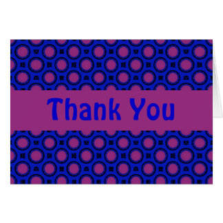 Thank You blue and purple dots Card