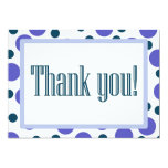 Thank You Blue and Purple Dots 5x7 Paper Invitation Card