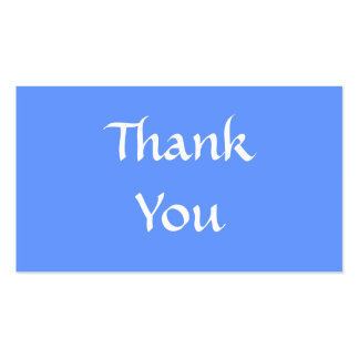 Thank You. Blue and White. Business Card