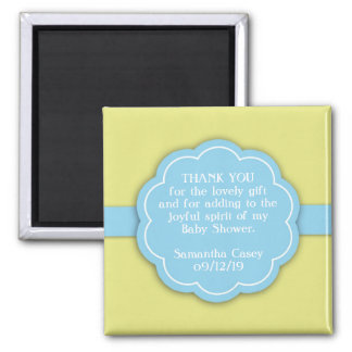 Thank You Blue Baby Shower Favor Magnet