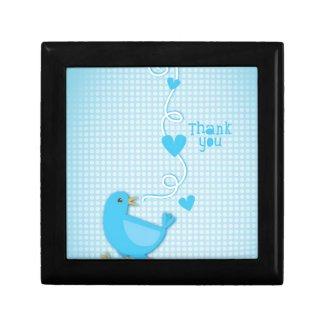 Thank you Blue Bird Trinket Box