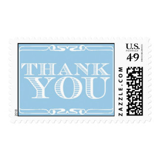Thank You - blue by Ceci New York Stamp