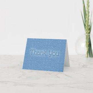 Thank You Blue Card zazzle_card