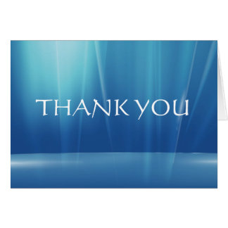 THANK YOU - BLUE CARD