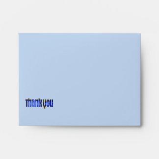 Thank You blue Envelopes