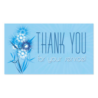 Thank You - blue flowers Double-Sided Standard Business Cards (Pack Of 100)