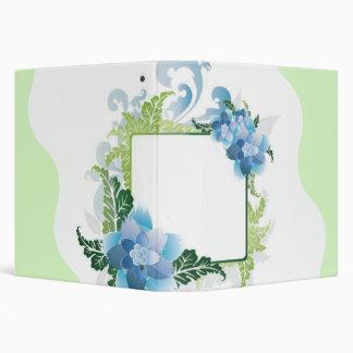 Thank You Blue Green Floral Binder