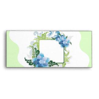 Thank You Blue Green Floral Envelope