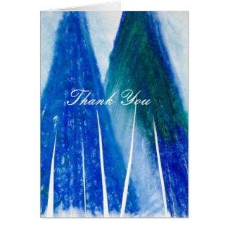 Thank You - Blue Light's Dancin' Around Card