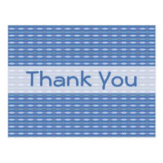Thank You Blue pattern Postcard