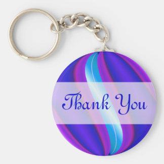 Thank You blue purple Keychains