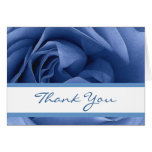 Thank You Blue Rose Greeting Card