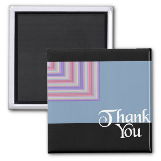 Thank You Blue Square Magnet