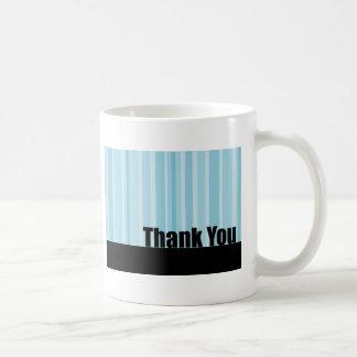 Thank You Blue Stripe Coffee Mug