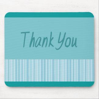 Thank You Blue Stripe Mouse Mat