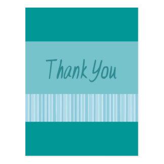 Thank You Blue Stripe Postcard