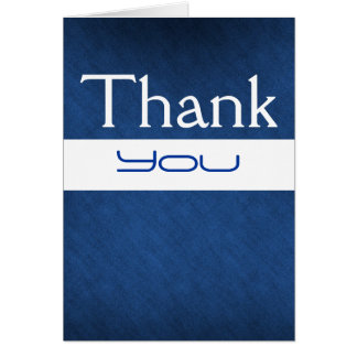 """thank you"" blue white birthday wedding card"