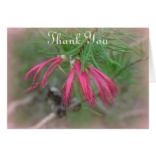 Thank You Bookmark Flower Card