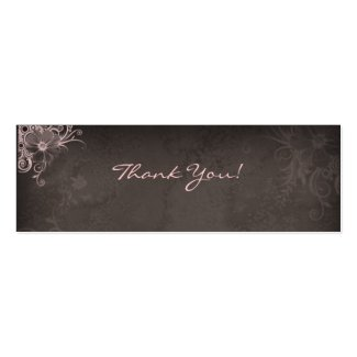 Thank You Bookmark Pink Brown profilecard