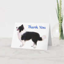 Thank You Border Collie Greeting Card - Verse
