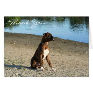 Thank You Boxer Puppy Greeting card