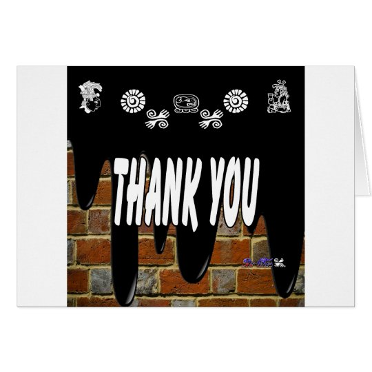 THANK YOU BRICK BACKGROUND PRODUCTS CARD