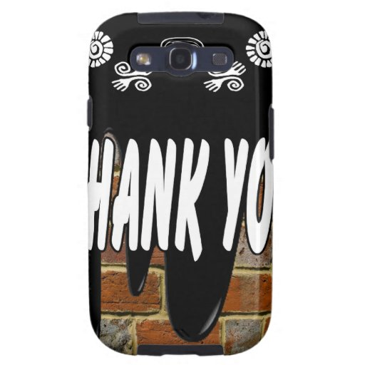 THANK YOU BRICK BACKGROUND PRODUCTS SAMSUNG GALAXY SIII CASES