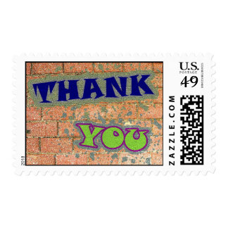 Thank You Brick Background Stamp