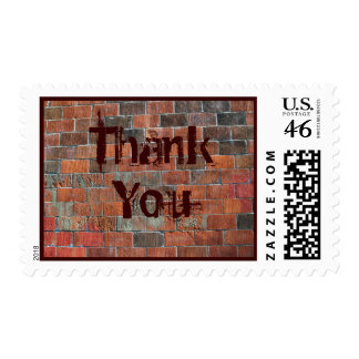 Thank You brick wall Stamps
