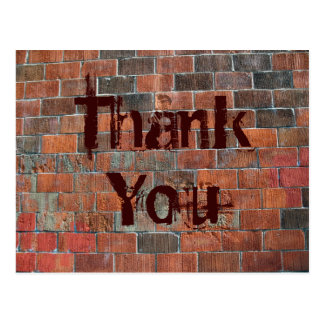 Thank You brick wall Postcards
