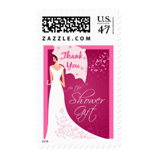 Thank You - Bridal Shower Gift Postage Stamps