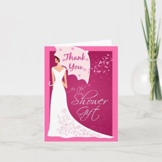 Thank You - Bridal Shower Gift Thank You Cards card