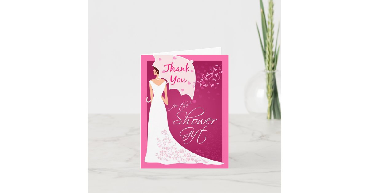 Thank You Card Wedding Gift: Thank You - Bridal Shower Gift Thank You Cards