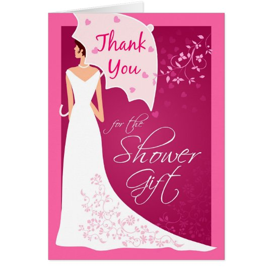 Sample Thank You Cards For Wedding Gifts: Thank You - Bridal Shower Gift Thank You Cards