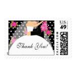 Thank You Bride & Groom Bridal Shower Stamp