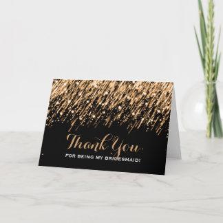 Thank You Bridesmaid Falling Stars Gold