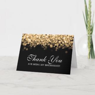 Thank You Bridesmaid Gold Lights