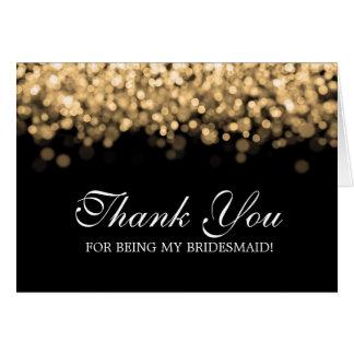 Thank You Bridesmaid Gold Lights Card