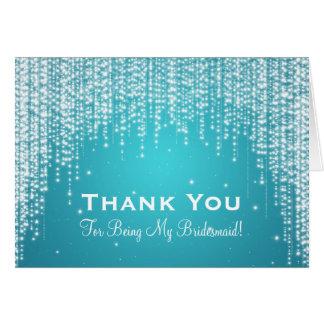 Thank You Bridesmaid Night Dazzle Blue Card