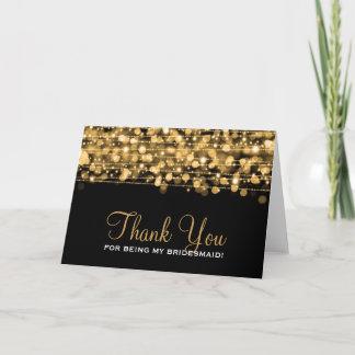Thank You Bridesmaid Party Sparkles Gold