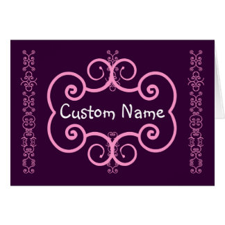 Thank You Bridesmaid Pink and Purple Art Deco S001 Card