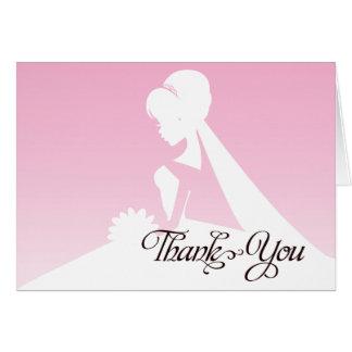 Thank you Bridesmaid Pretty in Pink Wedding Card