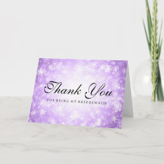 Thank You Bridesmaid Purple Winter Wonderland