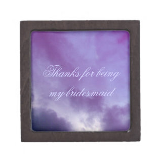 Thank You Bridesmaid Wedding Keep Safe Box
