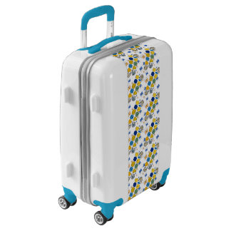 """""""Thank you"""" bright doodle design, kids drawing Luggage"""