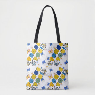 """""""Thank you"""" bright doodle design, kids drawing yel Tote Bag"""